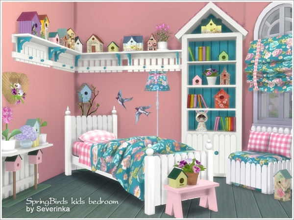 Elegant The Sims 4 Bedroom Severinkas Kids Bedroom Spring Birds Sims 4 Updates