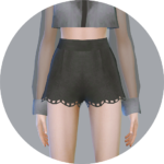 SIMS4 marigold: Wave Hot Pants_ wave of hot pants _ A woman in costume