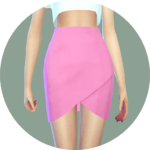 SIMS4 marigold: Tulip Skirt_ tulip skirt _ A woman in costume