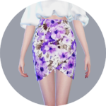 SIMS4 marigold: Tulip Skirt Pattern version_ tulip skirt pattern version _ A woman in costume