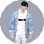 SIMS4 marigold: Male_ACC_Vintage Denim Jacket_ vintage denim jacket _ Men Jackets Accessories