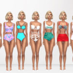 Sims 4 Look Books And CC Finds — High Waisted Swimsuits Hair [xx] – @darkosims3  …