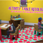 Ray's Sims – recolour of the children's activity table in…