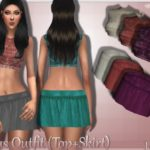 JavaSims- Virus Outfit (Top+Skirt)