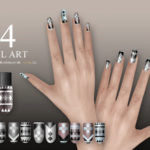 S-Club LL ts4 Nail Art N04