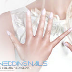 Pralinesims' Wedding Nails