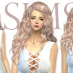 [JS SIMS 4] White Strappy Flounce Hem Dress | JS SIMS