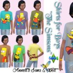 "Shirts for Boys ""The Simsons"""