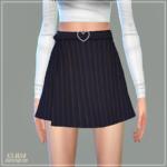 Heart Belt Mini Skirt_하트 벨트 미니스커트_여자 의상 – SIMS4 marigold