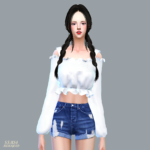 Mari Mari Off-Shoulder Blouse_ off shoulder blouse _ A woman in costume – SIMS4 marigold