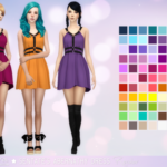Aveira's Sims 4, Sentate's Abernathy Dress – Recolor 66 Colors …