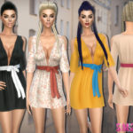 sims2fanbg's 191 – Dress with bow