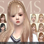 [JS SIMS 4] Butterflysims Hairstyle 120 Retexture | JS SIMS