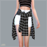 Hot Pants With Shirts_ hatpaencheugwa shirt _ A woman in costume – SIMS4 marigold