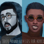 tamo: [TS4] UPDATE!! Thick Round & Mock Mods Glasses