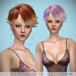 Jennisims: Downloads sims 4: Newsea Baptiste Hair retexture Male /Female