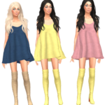 Sims4 Marigold ? simsfunstuff: Marigold Double Dress…