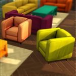 Think Simlish Lucky Living Room Set – Part One