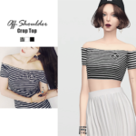 WAEKEY • Off-Shoulder Crop Top • New mesh / EA mesh edit •…