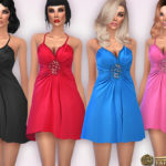 Harmonia's Weaving Beaded Detail Babydoll Dress