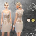 Devirose's Peplum Dress Glitter