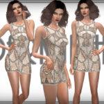 DarkNighTt's Embellished Cut Away Dress