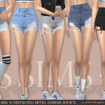 [JS SIMS 4] Destroyed Ripped Summer Shorts | JS SIMS