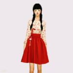 Casual HanBok_ life _ A woman in costume hanbok – SIMS4 marigold