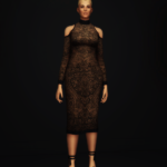 S4 _Cut-out Mid-Lace Dress by Balmain (5 color)