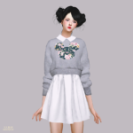 Knit Sweater One-Piece_ knit sweater dress _ A woman in costume – SIMS4 marigold