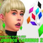 tamo: [TS4] UPDATE! PlumbBob Earrings Ver.2.0