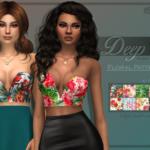 ✩ Trillyke ✩ | Deep V Plunge Bustier – Floral Patterns Besides…