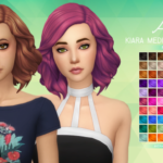 Aveira's Sims 4, Kiara Medium Soft Wavy – Recolor 70 Colors …