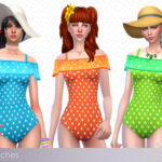 ☂ Babubii – Pinny House ☂ — Amy 。✿*゚ Polka dot swimsuit Teen to elder 12…