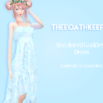 itskayy. RECOLORED MARIGOLDS GODDESS DRESS