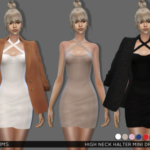 Simsway, High Neck Halter Mini Dress (TS4) Female,…