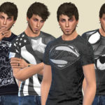 Birba 4 Sims • These four T-shirts are not the usual superhero…