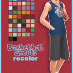 Basketball Shorts Solids Recolor Base Game… | Ooh Be Gah!!