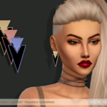 SL Triangle Earrings