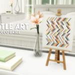curiosity killed the cowplant, Little art – Miniature decorative easel So I…