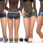ekinege's Cutoff Denim Shorts With Belt