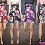 sims2fanbg's 219 – Floral skirt