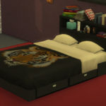 Simista A little sims 4 blog : Emily Black Contemporary Bed