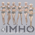 IMHO sims: 6 Poses & Animation #09 TS4 by IMHO