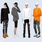 Long Sleeves Top_ long sleeve top male costume _ – SIMS4 marigold