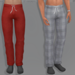 Cherryberrysims — Classic lounge pants for men that can be worn as…