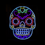 dominationkid. — HALLOWEEN NEONS ? • (g)host  • crawling skeleton •…