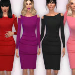 Harmonia's On-Trend Cold Shoulder Bodycon Dress