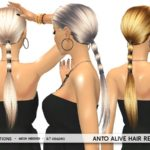 MahoCreations' Anto Alive Hair Recolor – mesh needed