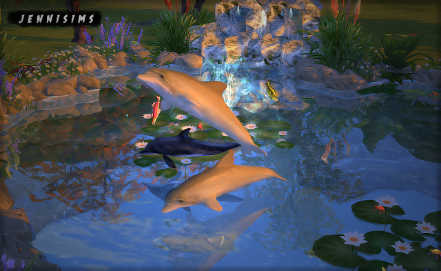 Jennisims Downloads Sims 4 Decorative Dolphins Faby Amp Jenni